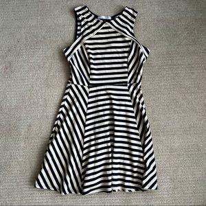 Striped A line Skater Dress
